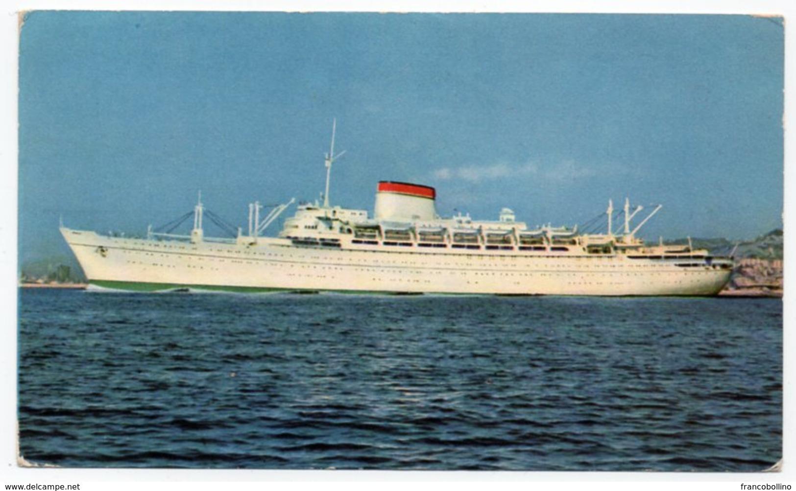 GIBRALTAR - M/N AUGUSTUS/GIULIO CESARE / SHIP / ITALIA NAVIGAZIONE - Gibilterra
