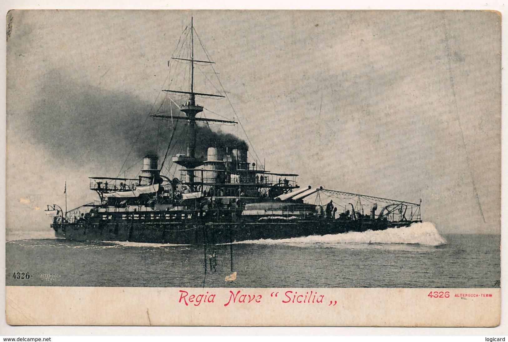 REGIA NAVE SICILIA - Guerra