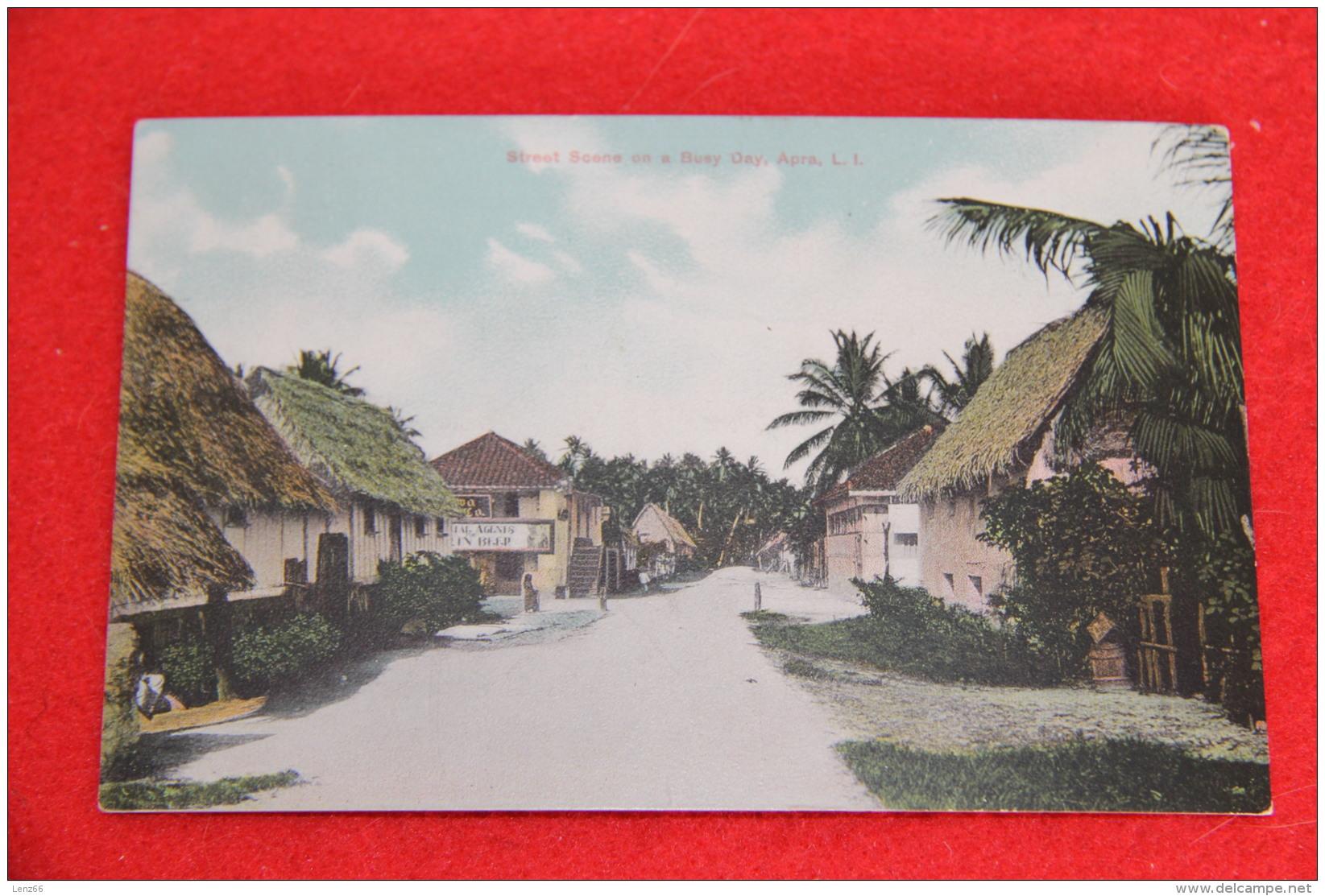 Oceania Guam Apra Street Scene On The Busy Day  1911 - Guam