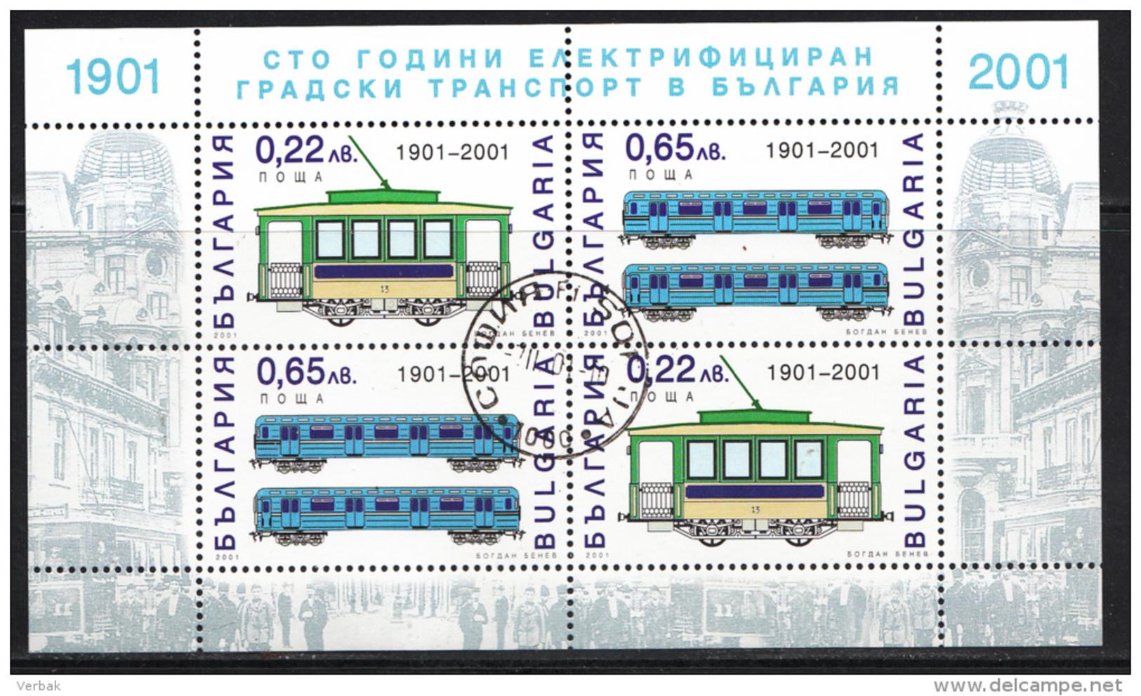 BULGARIE Mi.nr: 4503-4504 Kl.bogen Personentransport 2001 OBLITÉRÉS / USED / GEBRUIKT - Usati
