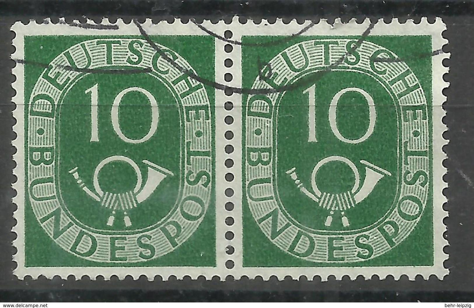 """BRD 128/128 """" 10 Pfg.Einzelmarke Im Paar Aus Der Posthornausgabe """" Sauber Gestempelt"""" Mi.:10,00 € - [7] Federal Republic"""