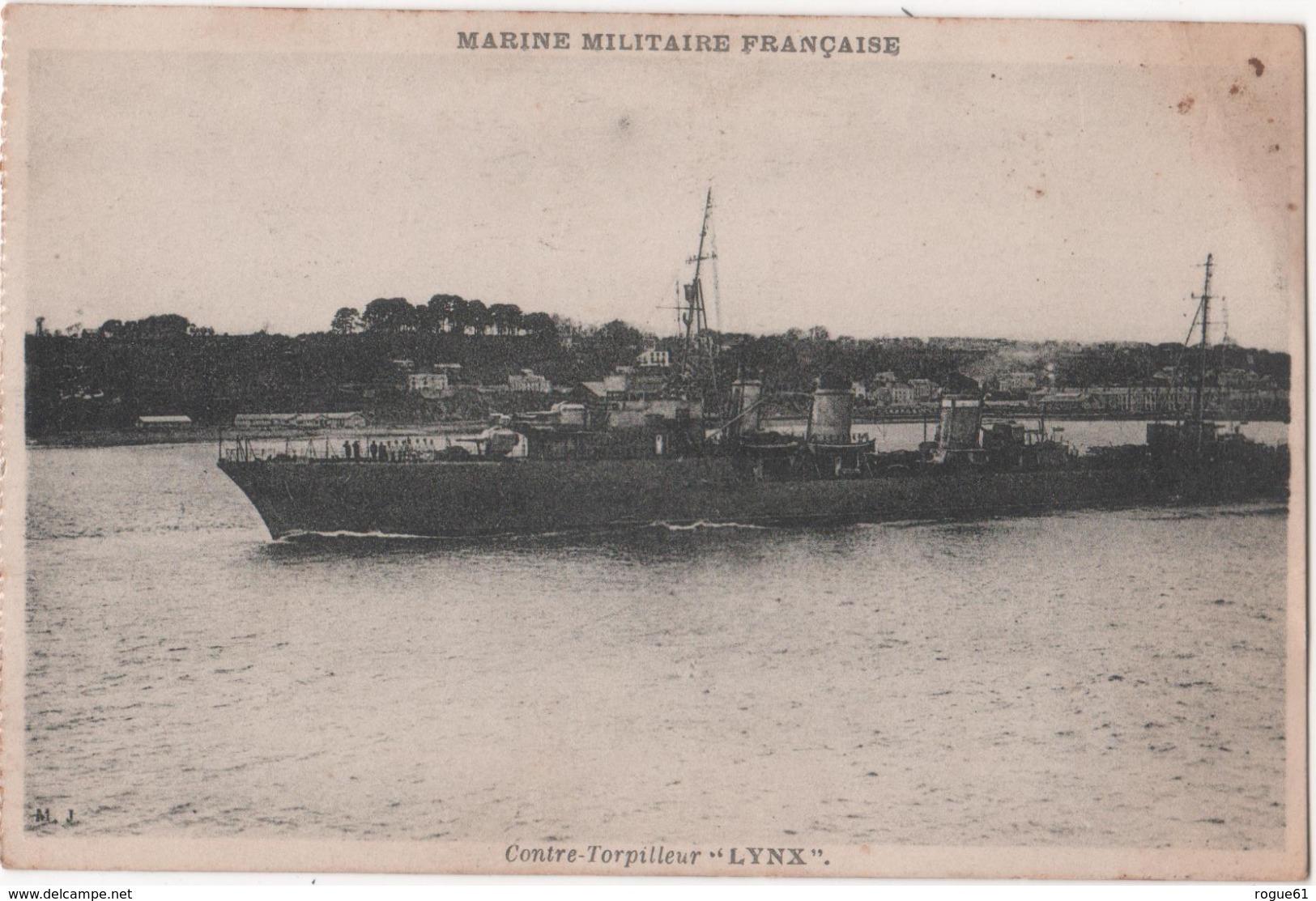 BATEAU / CONTRE - TORPILLEUR - LYNX   - Marine Militaire Francaise - Barche