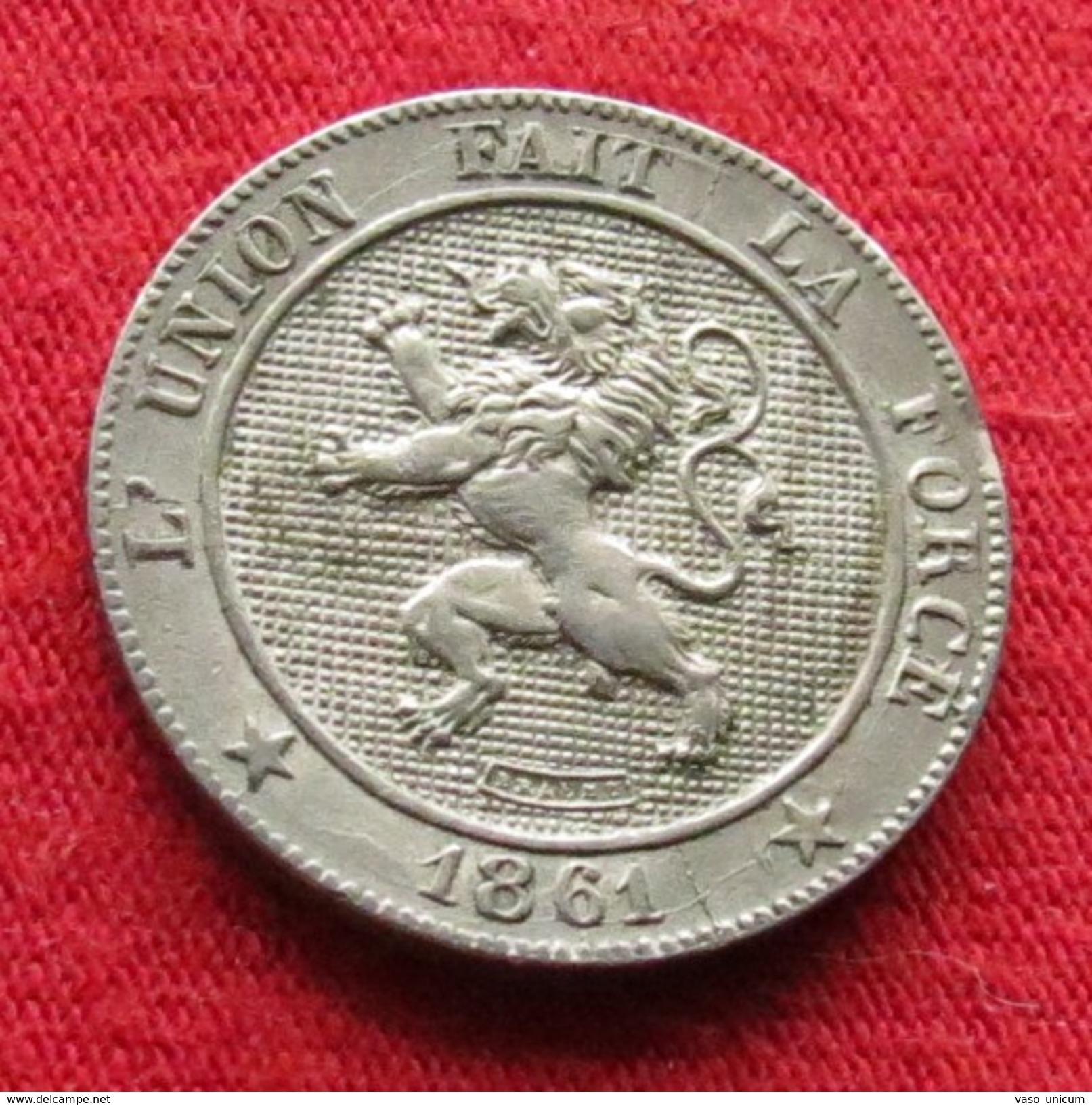 Belgium 5 Centimes 1861 Belgica Belgique Belges Belgien - Belgique