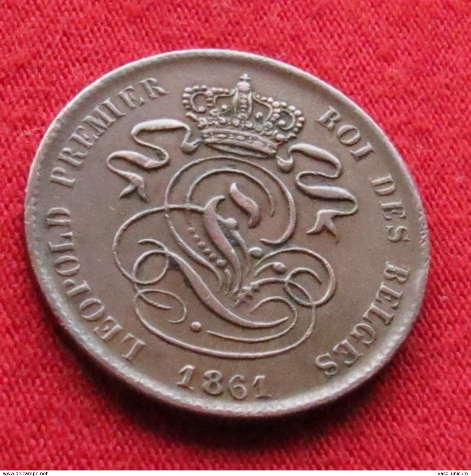 Belgium 2 Centimes 1861 Belgica Belgique Belges Belgien - Belgique