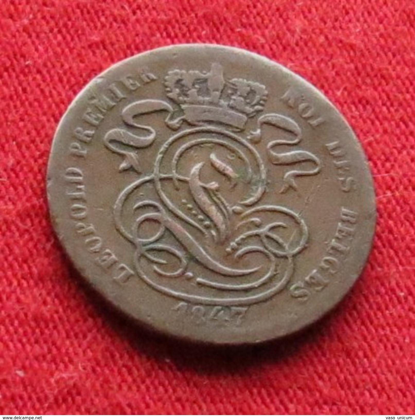 Belgium 1 Centim 1847 Belgica Belgique Belges Belgien - Belgique