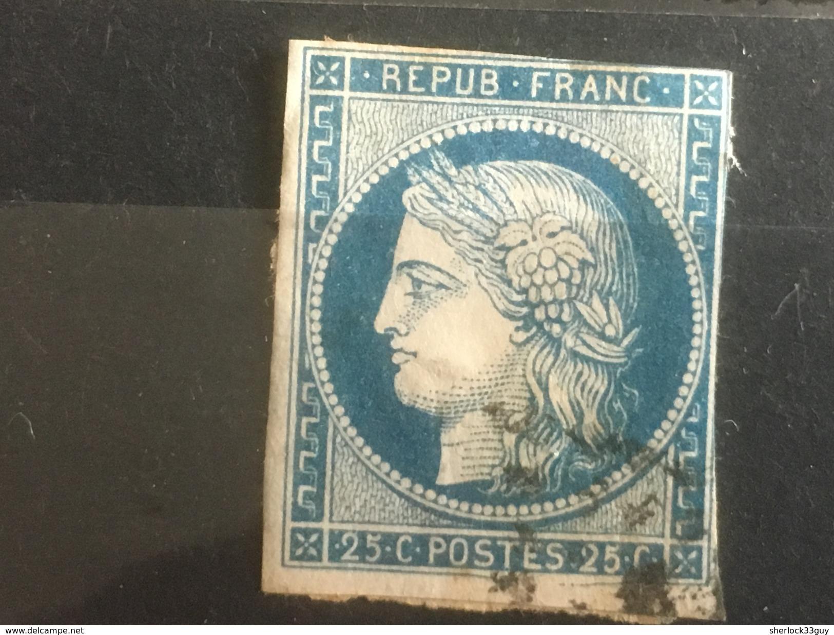 FRANCE YT 04.  Oblitéré. 1850. Côte 60.00 € - 1849-1850 Ceres