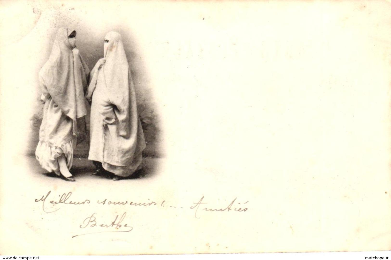 ALGERIE - ALGER - FEMMES VOILEES CARTE PRECURSEUR - Alger