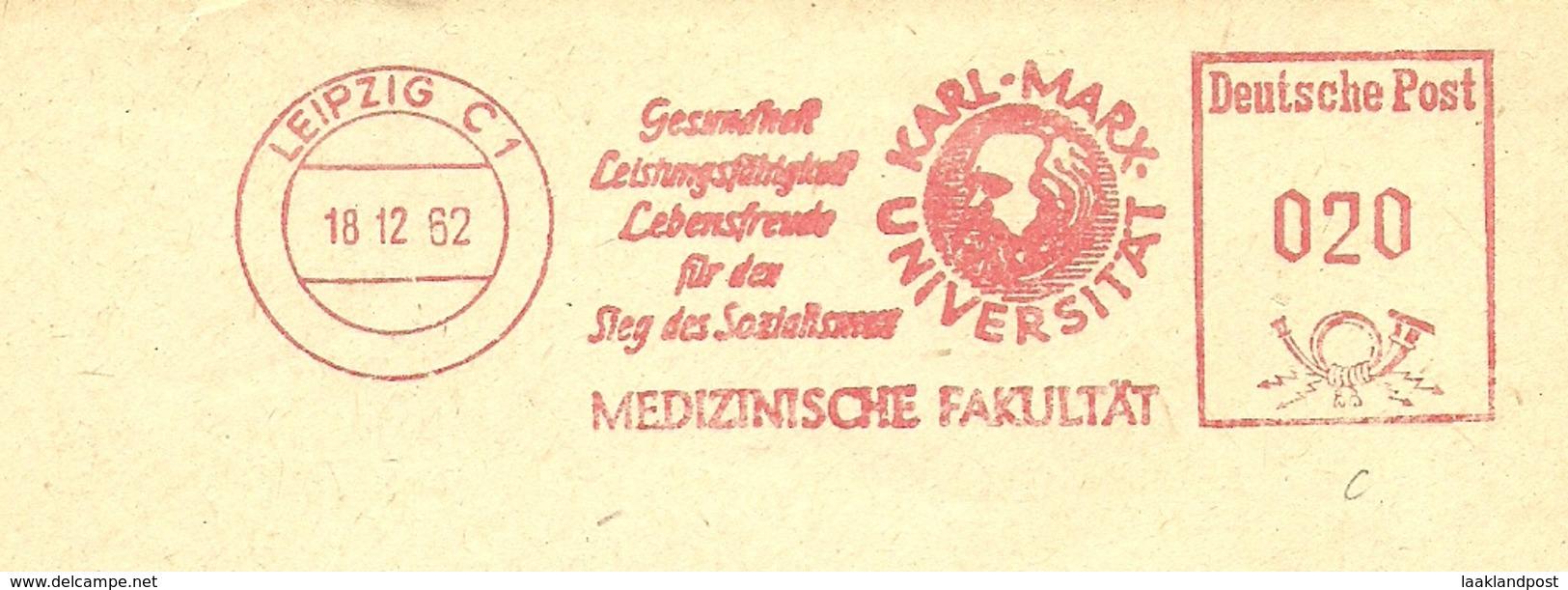 Firmcover Meter Karl-Max-Universitat Medizinische Fakultat Gesundheit Leipzig 18/2/1962 - Medizin