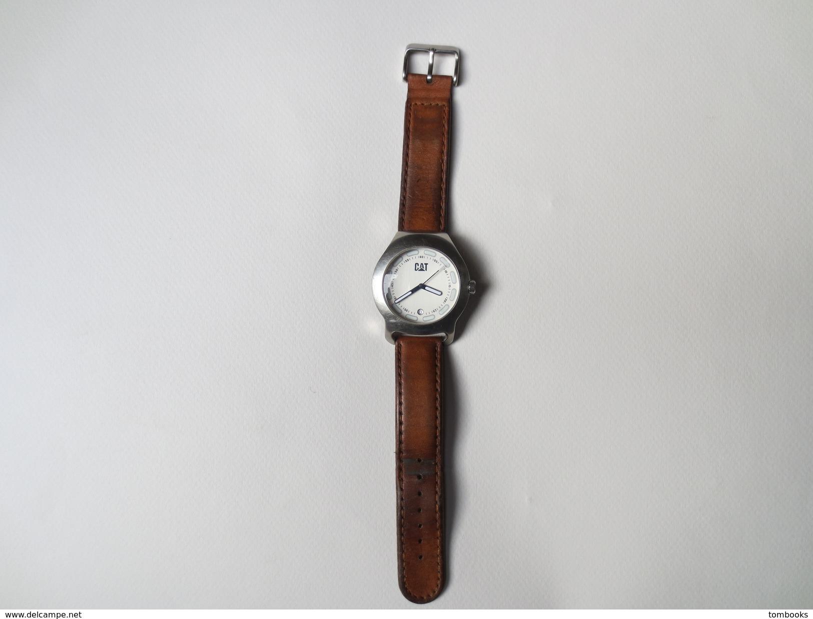"""Montre Bracelet Homme De Marque """" Caterpillar """" DA 141 - Stainless Stell - 30 M - - Montres Publicitaires"""