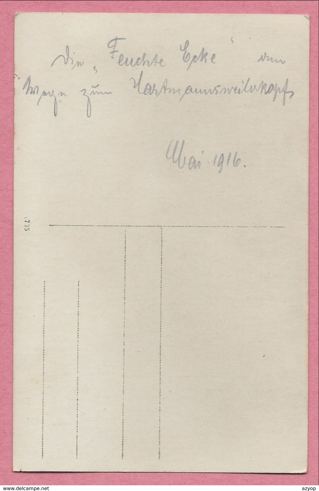 "68 - HARTMANNSWEILERKOPF - VIEIL ARMAND - Carte Photo Allemande - Soldats Allemands - "" Feuchte Ecke "" - Guerre 14/18 - Francia"