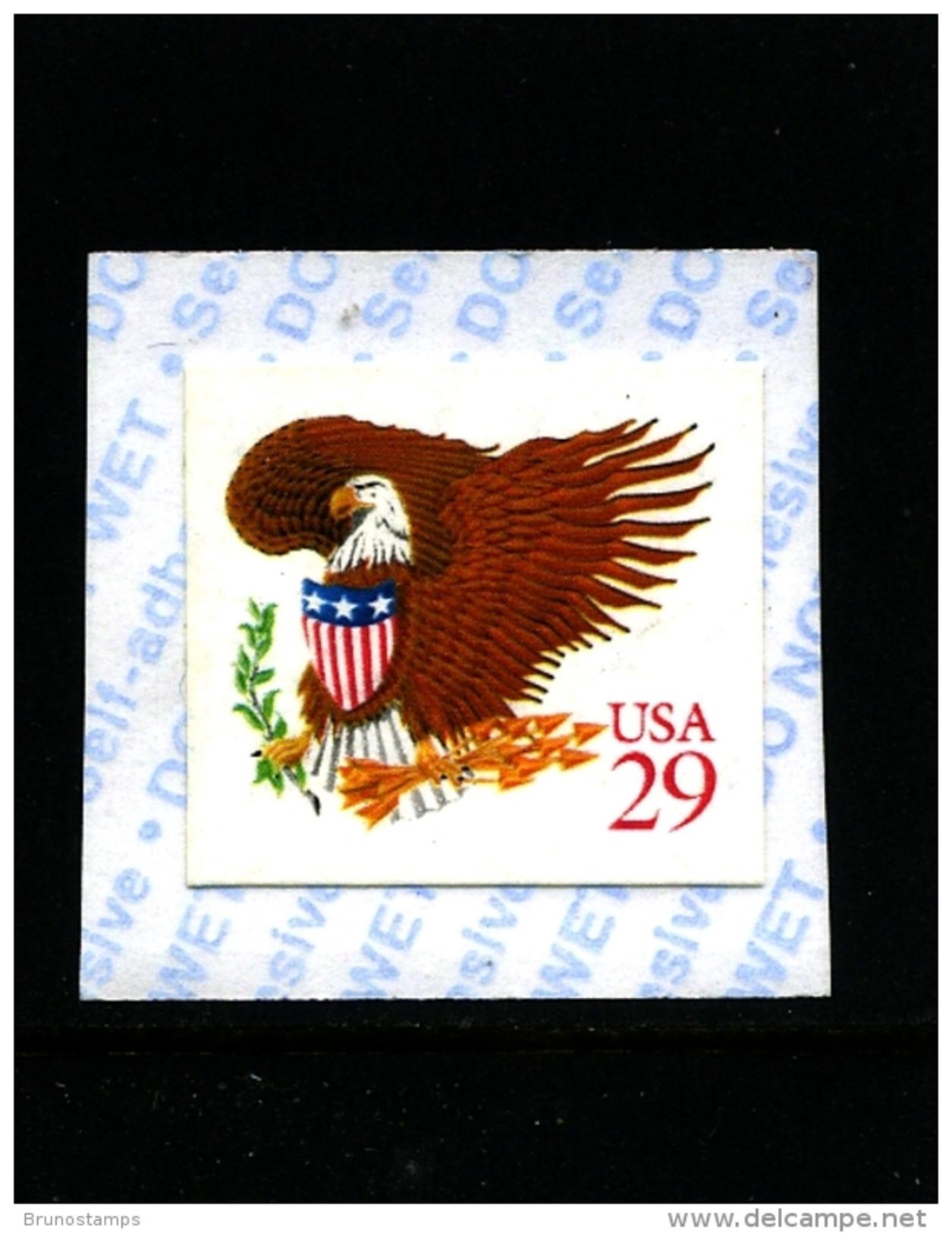 UNITED STATES/USA - 1992  29c  EAGLE  (RED)  SELF ADHESIVE MINT NH - Stati Uniti