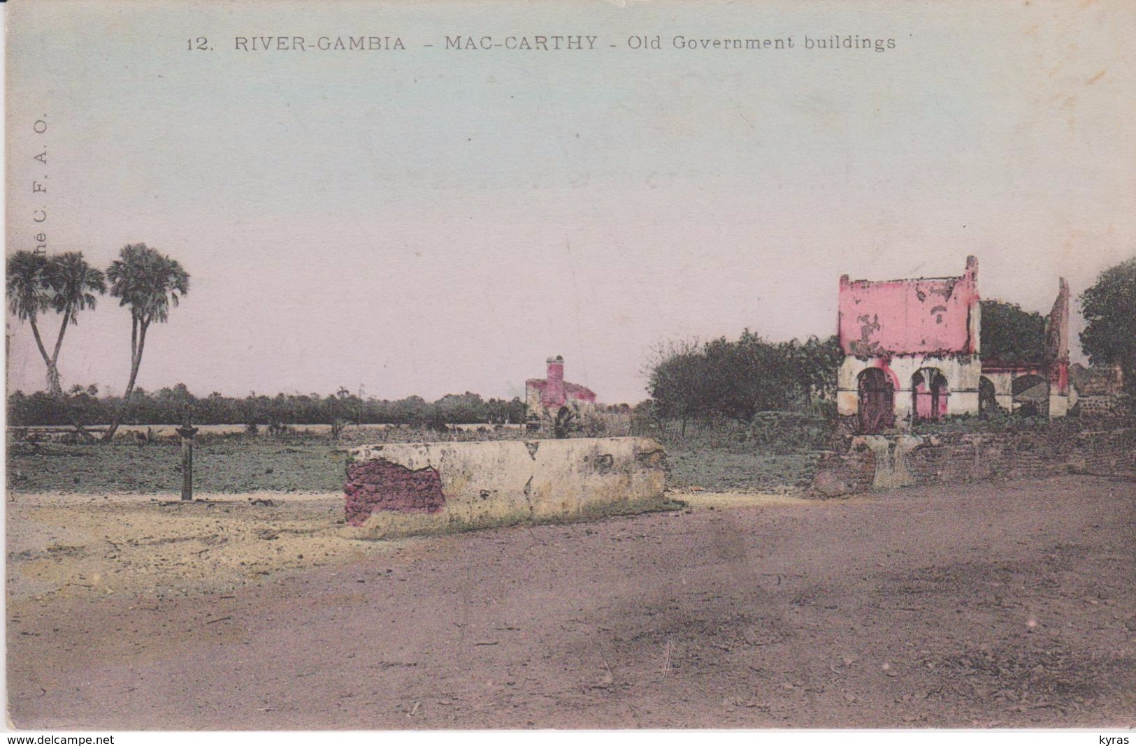 GAMBIE . RIVER GAMBIA . MAC- CARTHY . Old Government Building - Gambie