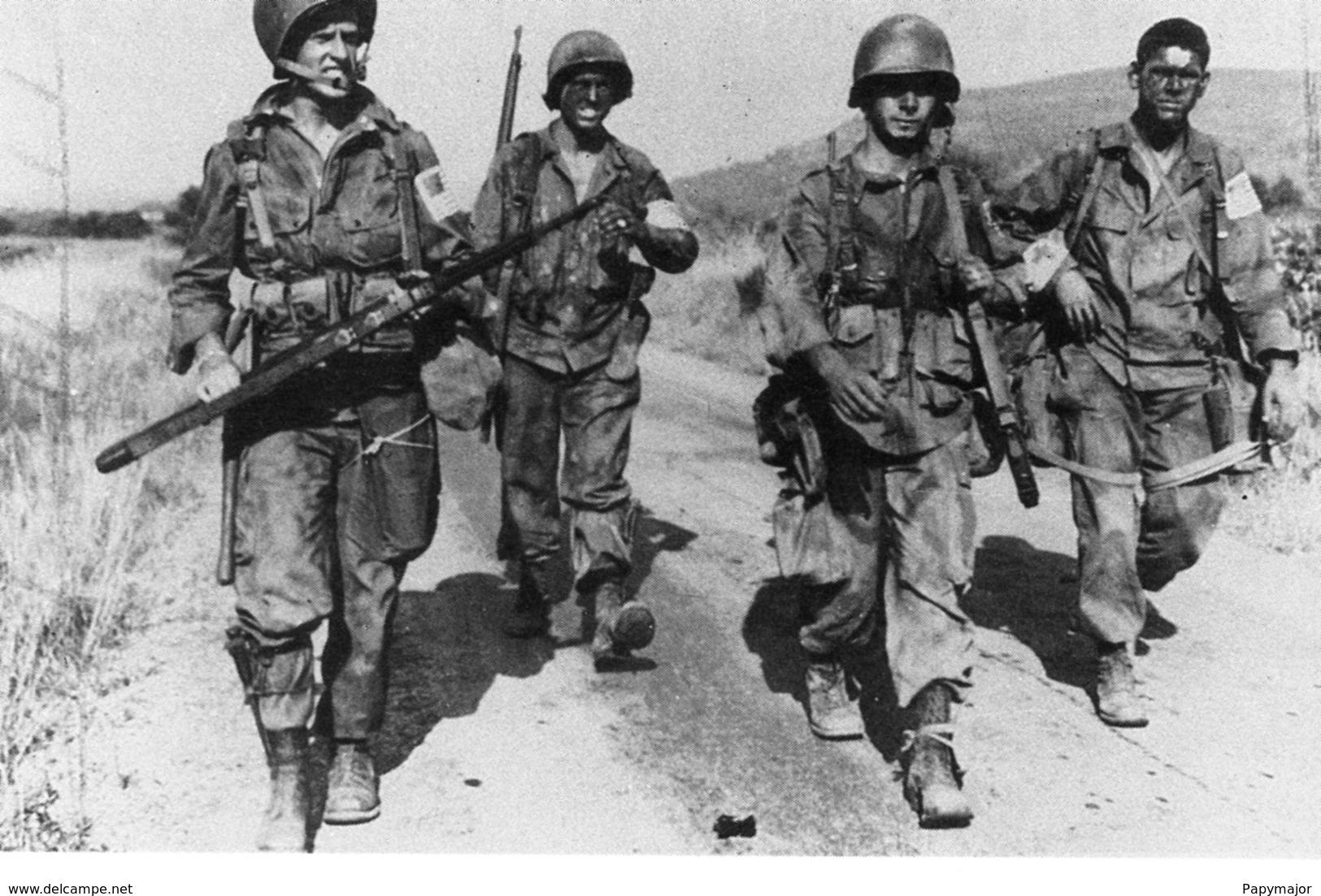 Militaria WW2  - Soldats Américains En Provence - 1939-45