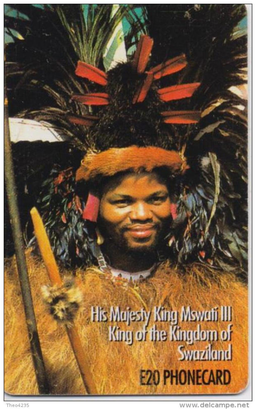 SWAZILAND  PHONECARD(CHIP) H.M KING MSWATI Iii  -3/00-USED(bx1) - Swaziland