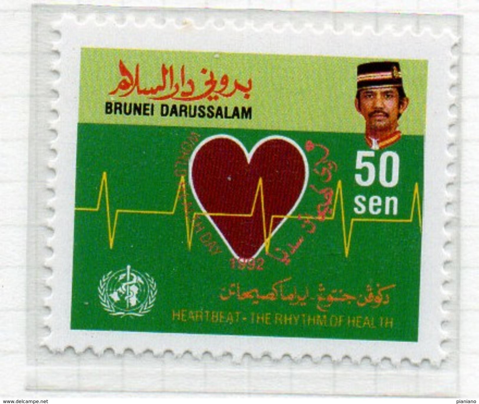 PIA - 1992 : BRUNEI : Giornata Mondiale Della Sanità - La Salute Al Ritmo Del Cuore - (Yv 440-42) - Brunei (1984-...)