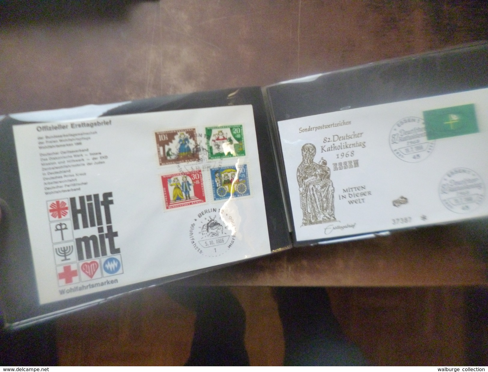 DEPART 1 EURO ! EUROPE/MONDE SUPERBE RASSEMBLEMENT COURRIERS-FDC-CARTES POSTALES-DIVERS ! - Collections (en Albums)