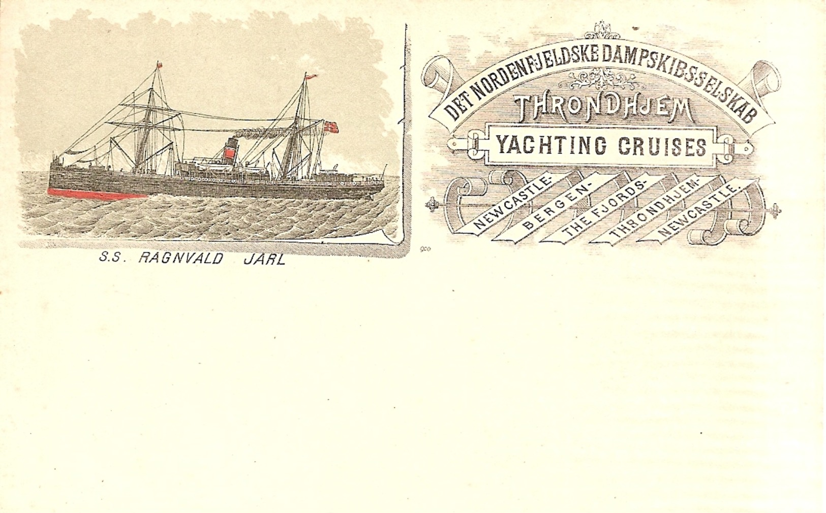 NORVEGE  -  SS. RAGNVALD JARL - Norvège