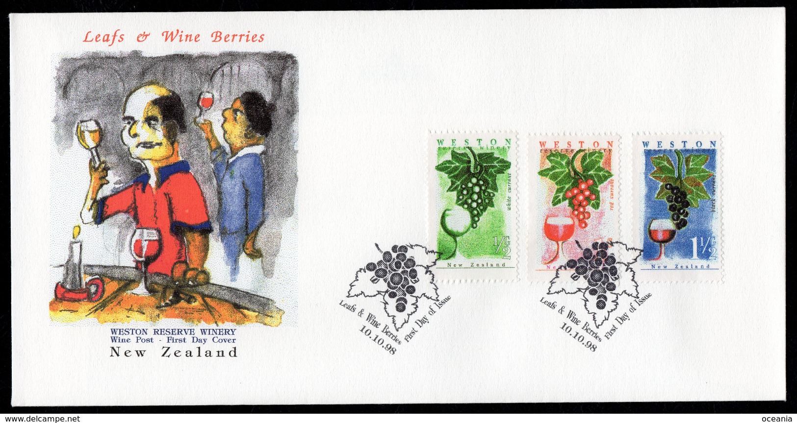 New Zealand Wine Post First Day Cover. - Unclassified