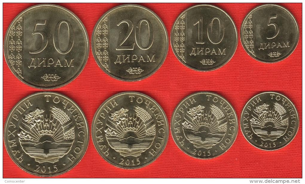 Tajikistan Set Of 4 Coins: 5 - 50 Diram 2015 UNC - Tadjikistan