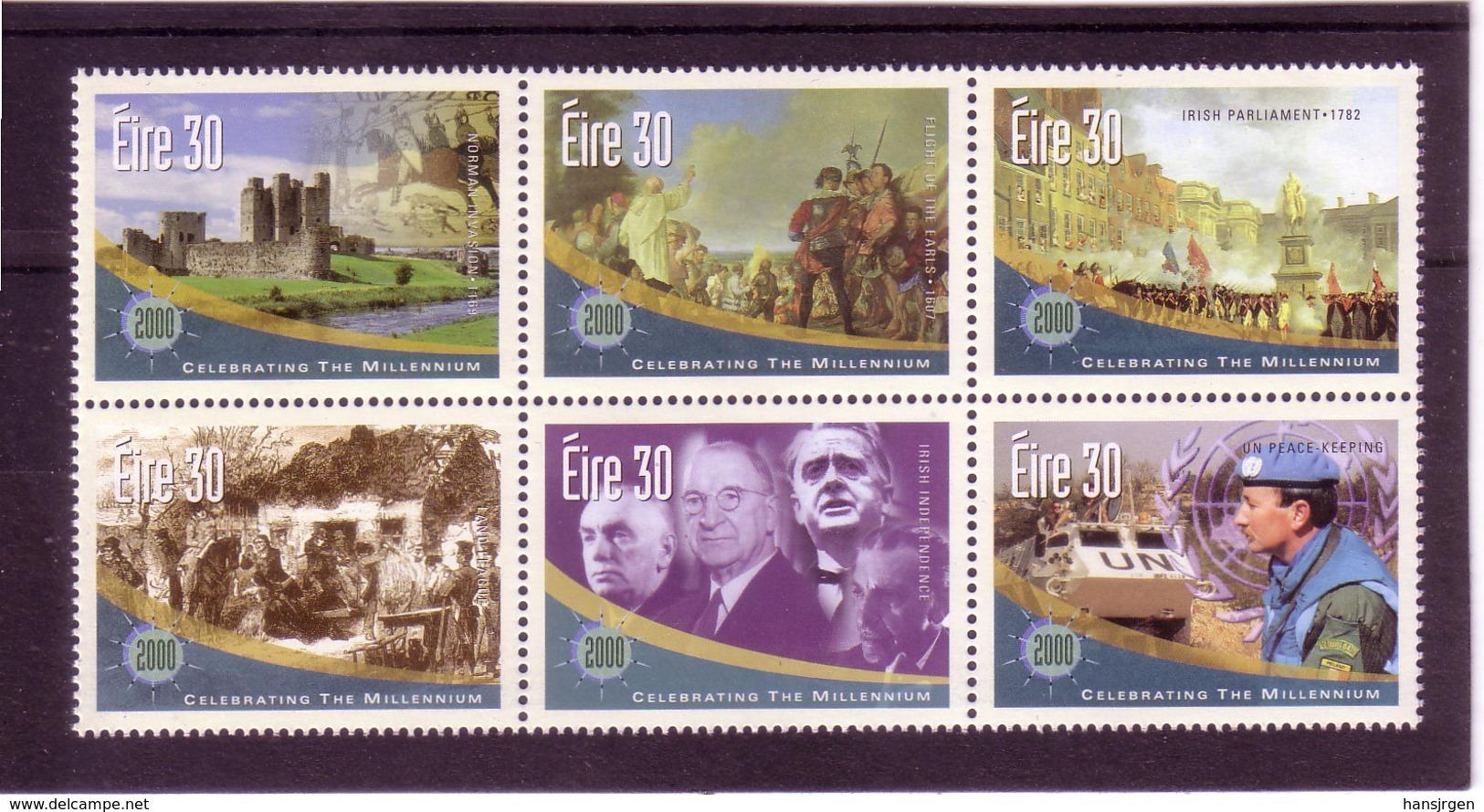 UUU07  IRLAND 2000 Michl 1206/11 SECHSERBLOCK ** Postfrisch Siehe ABBILDUNG - 1949-... République D'Irlande