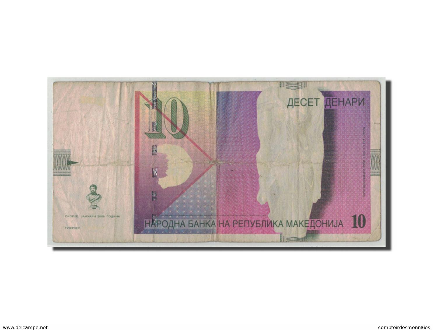 Macédoine, 10 Denari, 2008, KM:14h, 01-2008, B - Macédoine