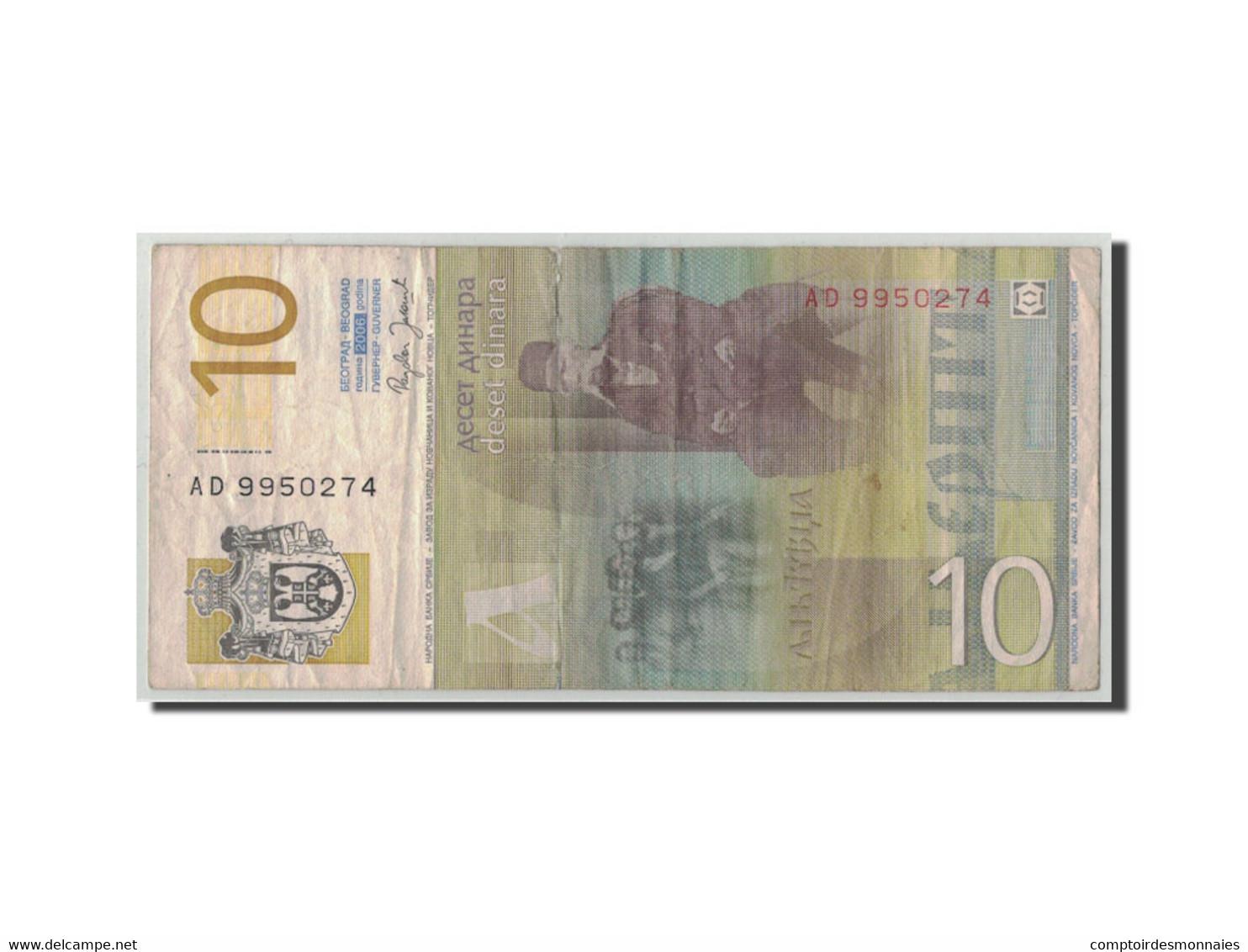 Serbie, 10 Dinara, 2006, KM:46a, B+ - Serbie