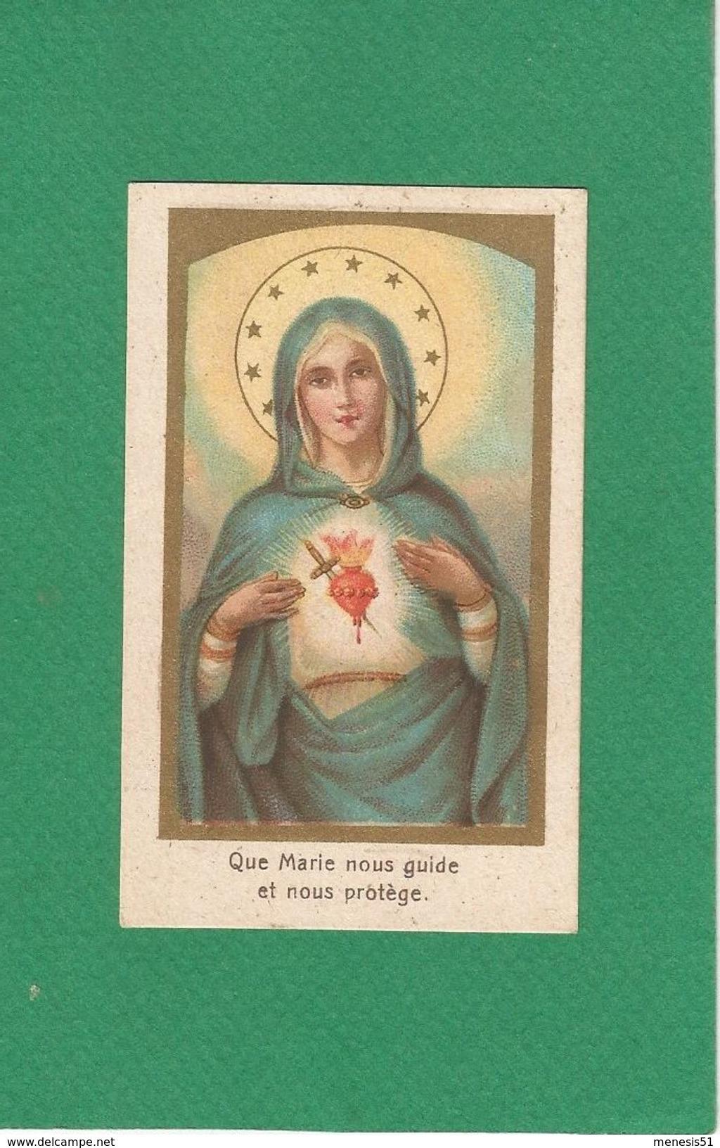 Image Pieuse Religieuse Holy Card Santini Illustration Vierge Bon Point Offert Par SALVY Aliment Des Nourrissons - Devotion Images