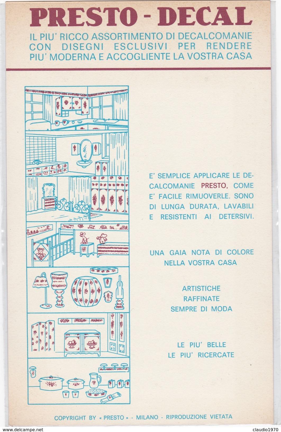 DECALCOMANIE Disney ARISTOGATTI  - Presto Milano VINTAGE - Altri