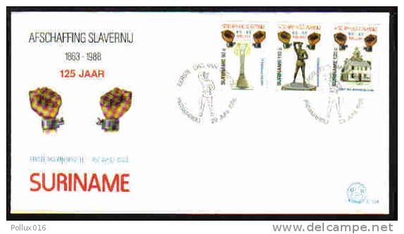 Surinam / Suriname 1988 FDC 124 Afschaffing Slavernij Slavery Sklaverei Esclavage - Surinam
