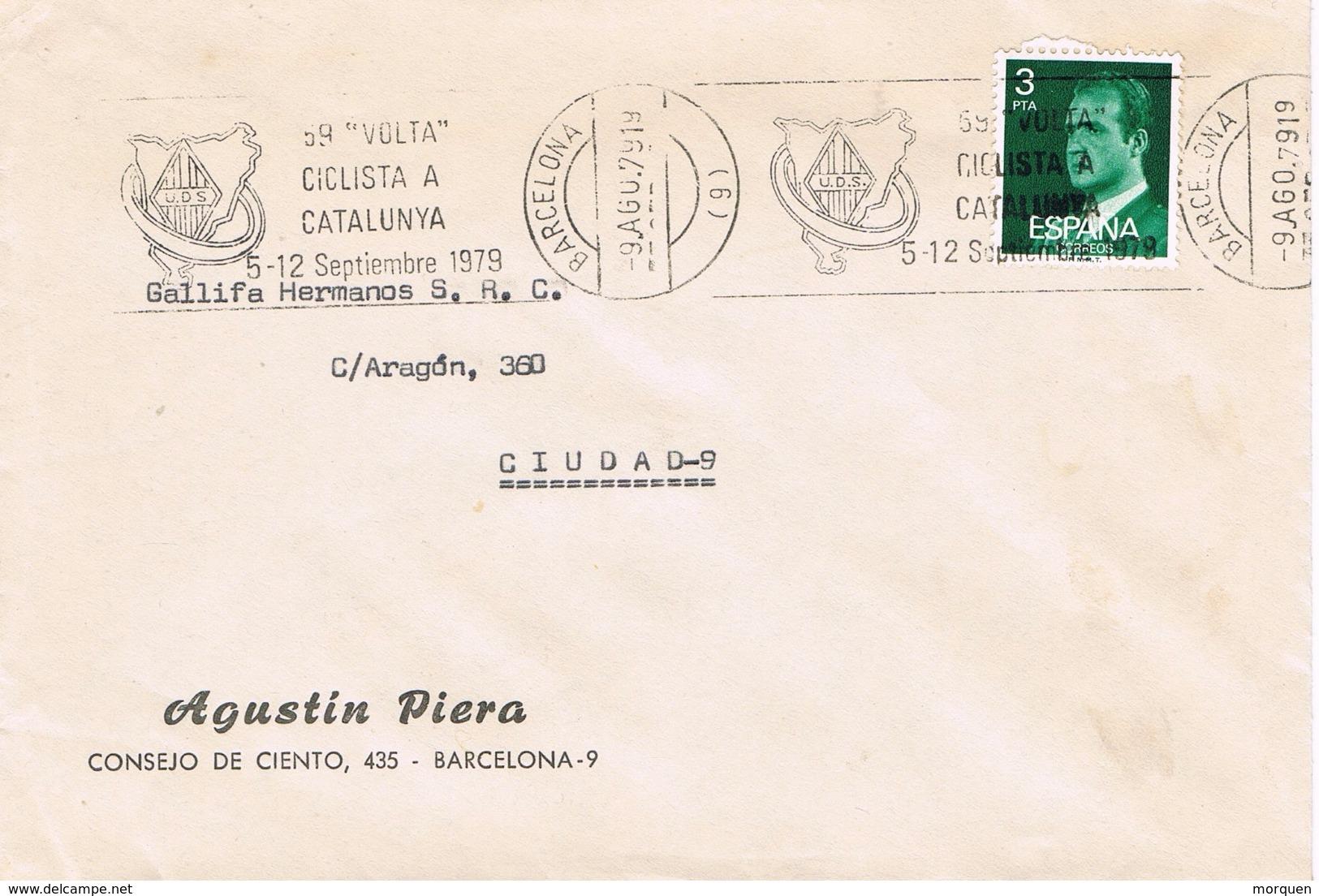 23480. Carta BARCELONA 1979. Rodillo 59 Volta Ciclista Catalunya 1979. Ciclismo, Sport - Ciclismo