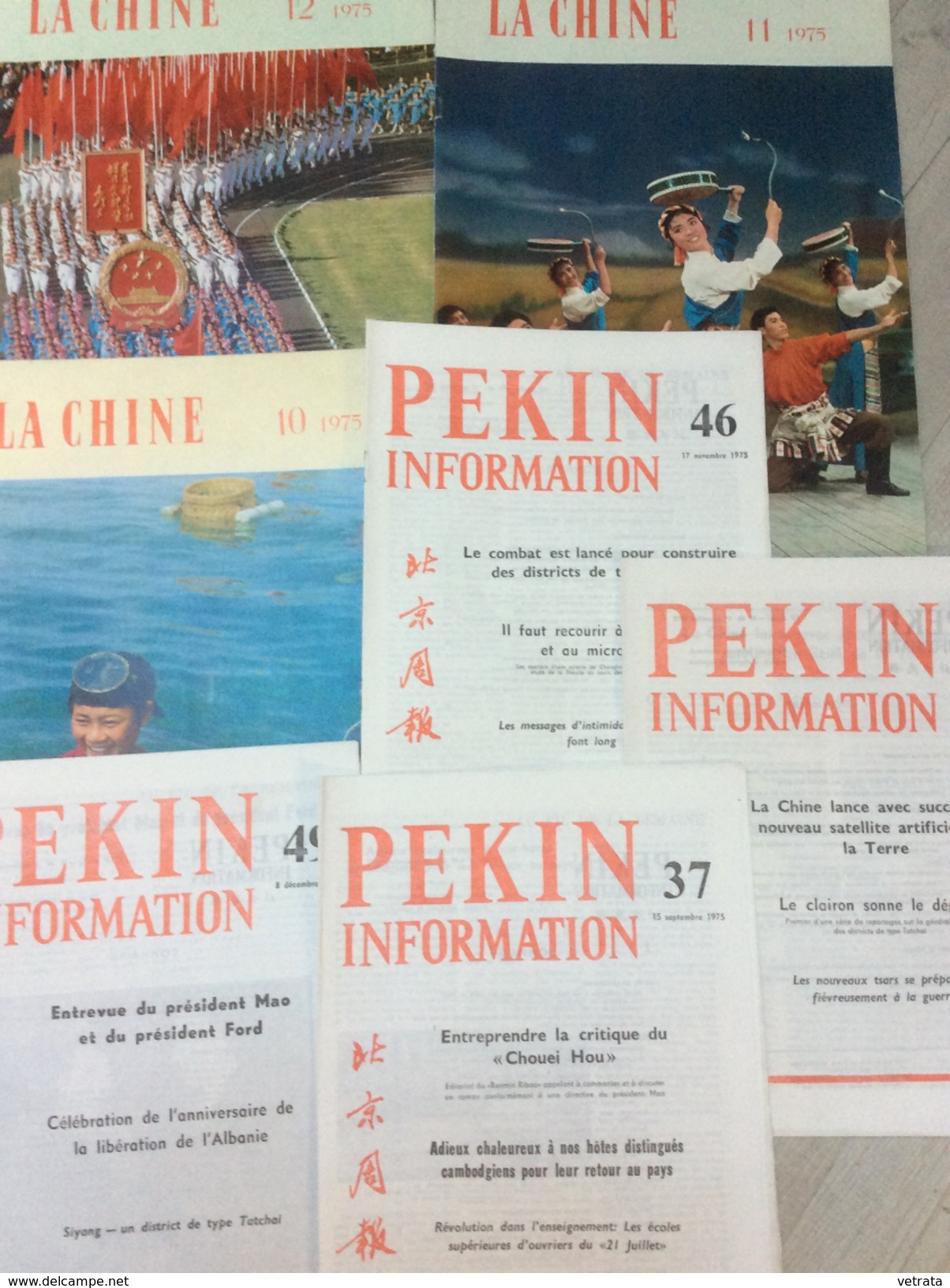 Lot De 4 Numéros De Pékin Information (37/46/48/49) & 3 N° La Chine (10/11/12) 1975 - Politica