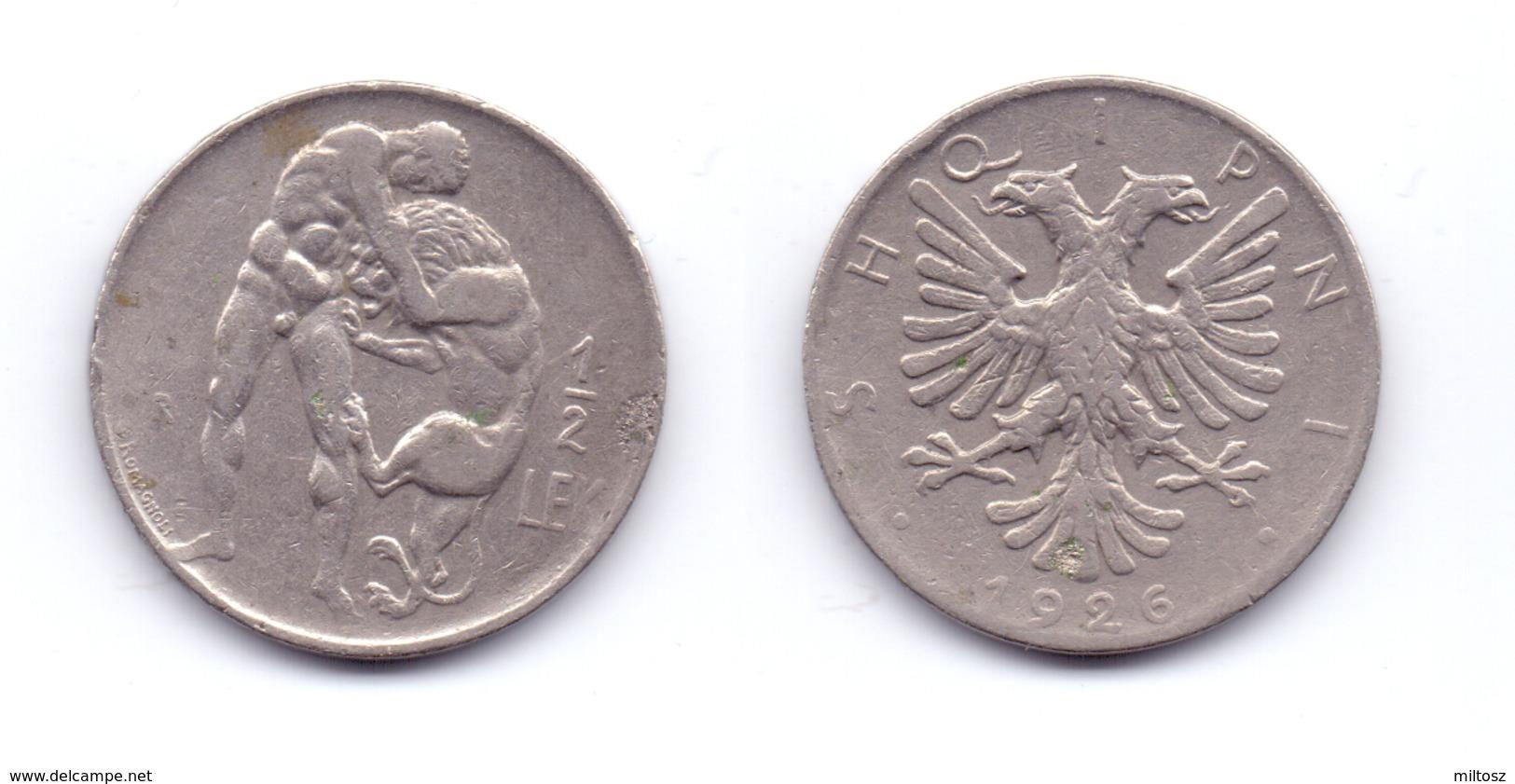 Albania 1/2 Lek 1926 - Albanie