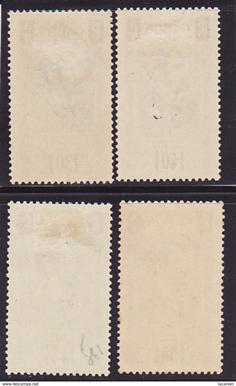 Gabon N° 133-134-135-136 Neufs *- Voir Verso - - Neufs
