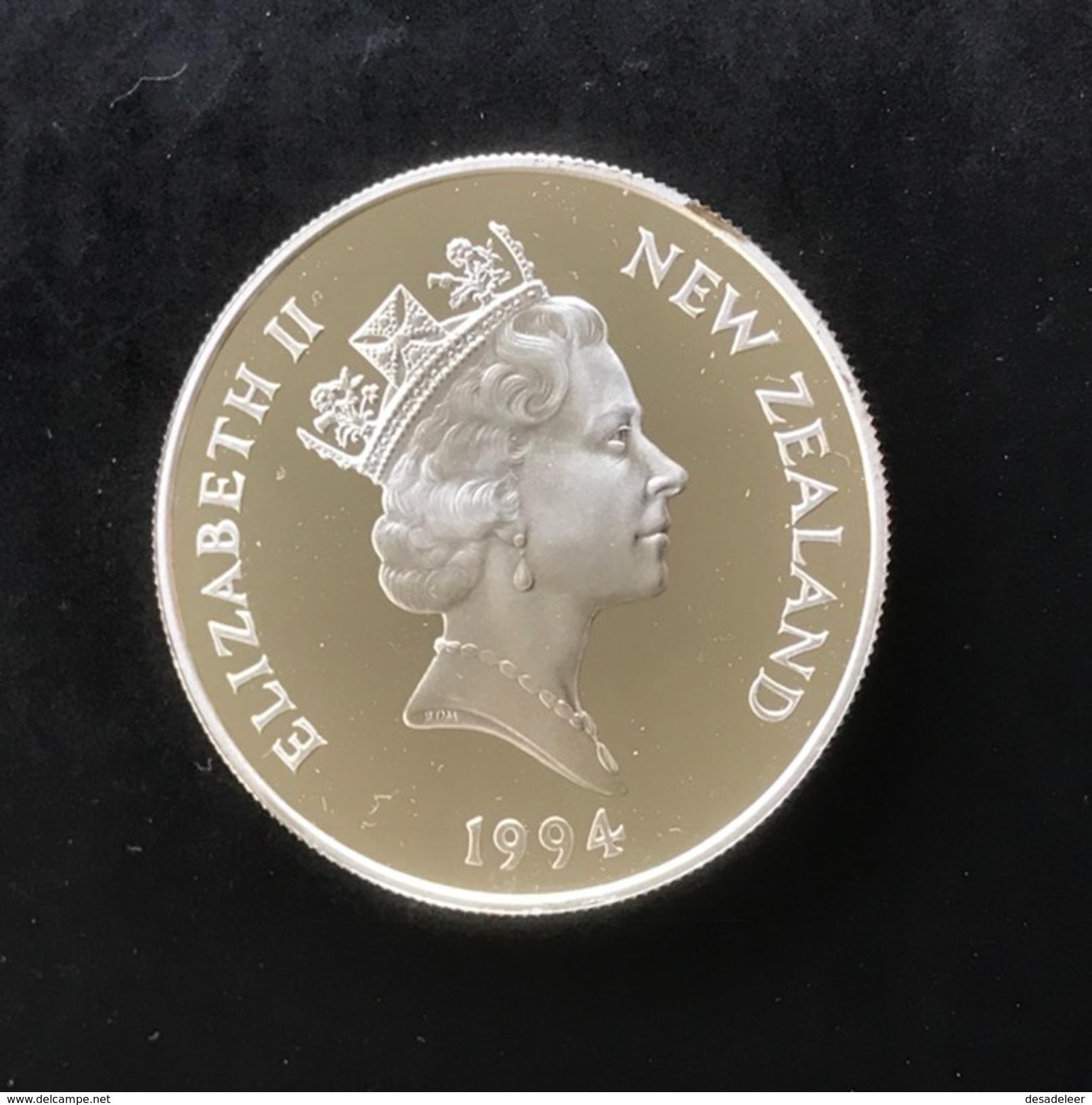 New Zealand 5 Dollar 1994 (Proof) - Winter Olympics - New Zealand