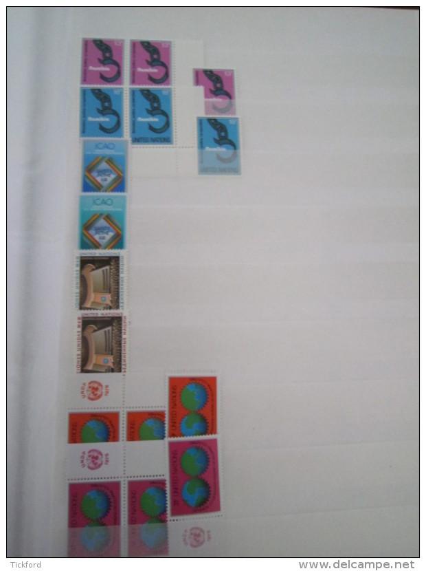 NATION UNIES  STOCK 3 BUREAUX  -  NEUFS ** MNH - 1951/1983  -  Poste, PA, BF - Cote Yvert + 5.000 € - ONU