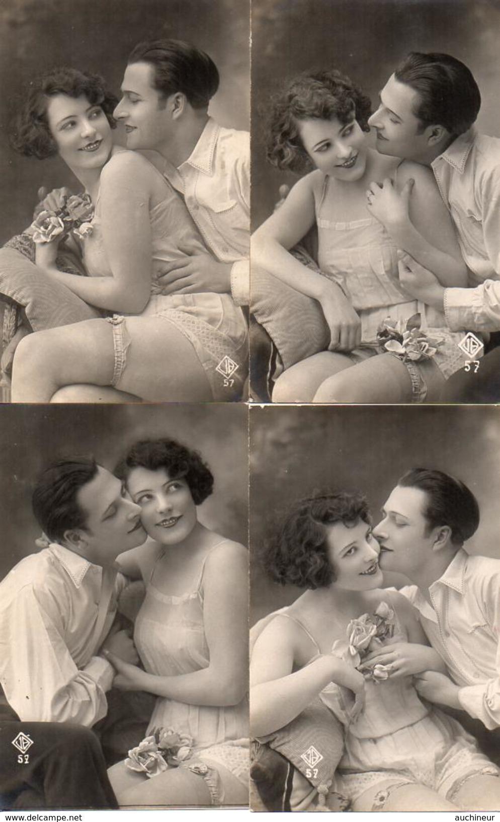 Couple Romance Femme Petite Tenue Bas Nuisette X 4 - Coppie