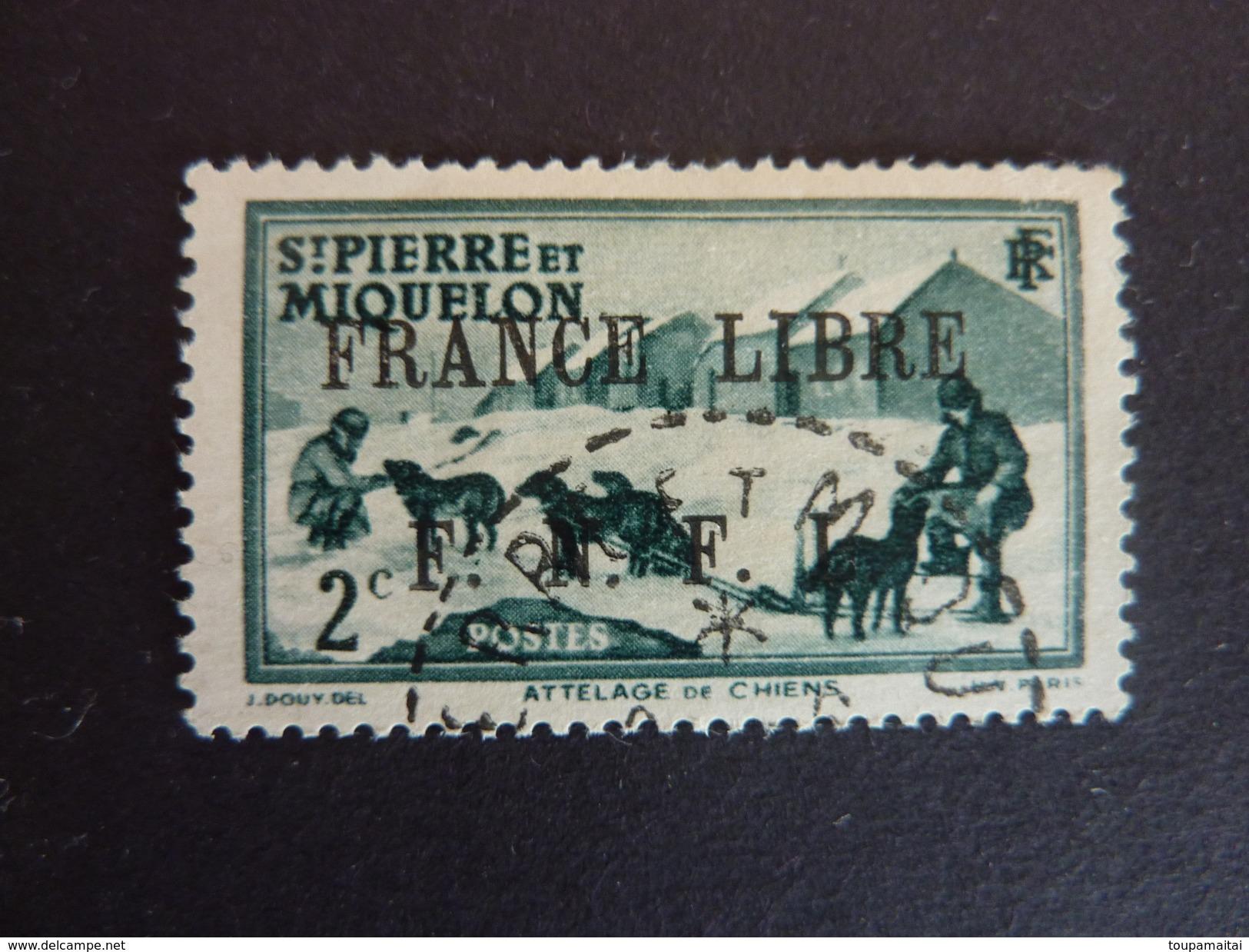 SAINT PIERRE ET MIQUELON, Année 1941-42, Y&T N° 246 Oblitéré - St.Pierre & Miquelon