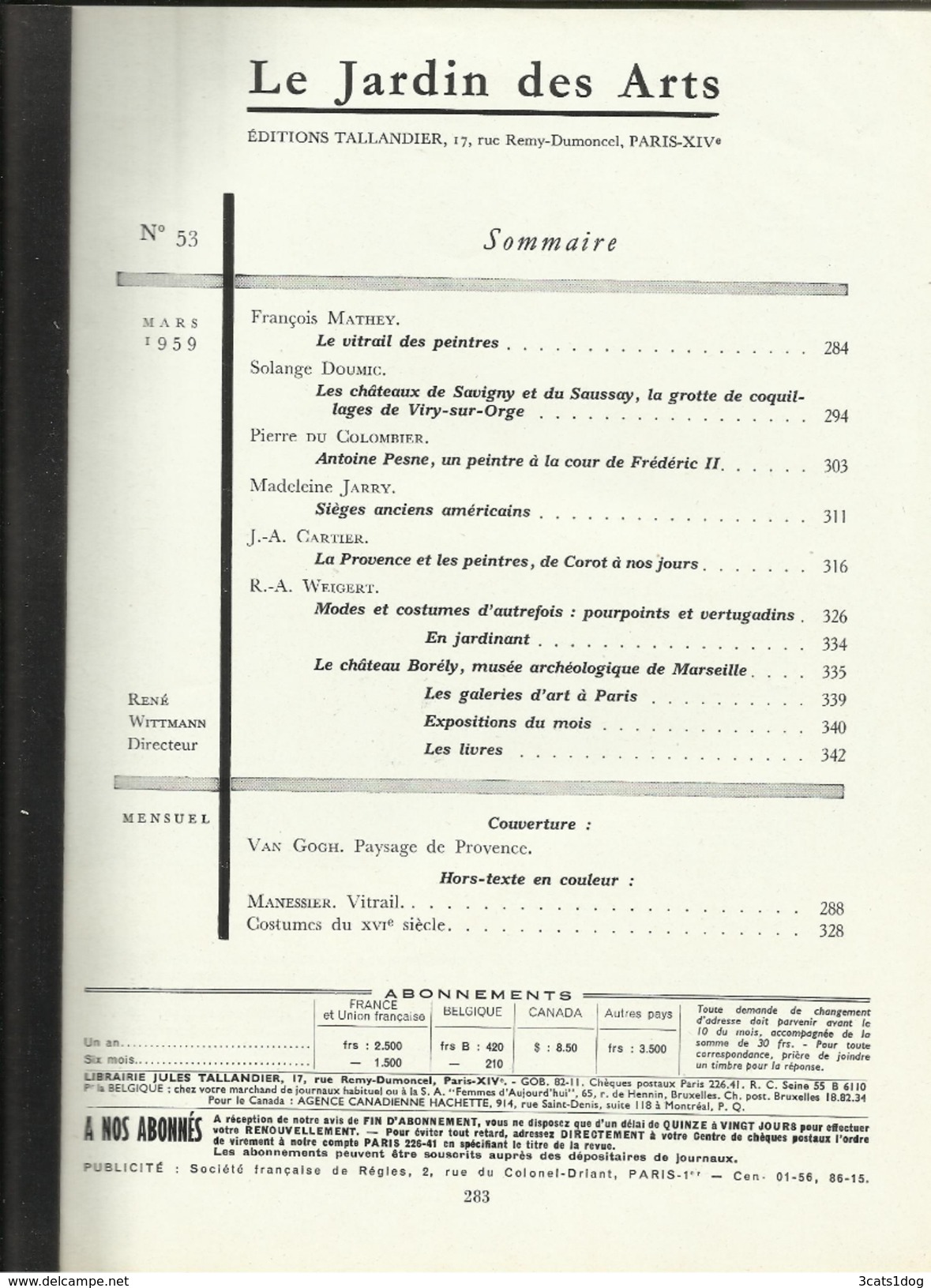 Le Jardin Des Arts - N° 53 - 1959 - Tijdschriften: Abonnementen