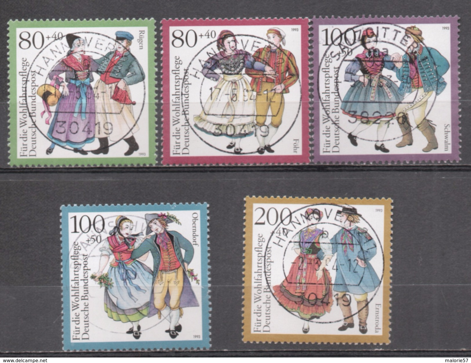 ALLEMAGNE R.F.A 1993 Michel 1696 - 1700 Oblitéré - Oblitérés