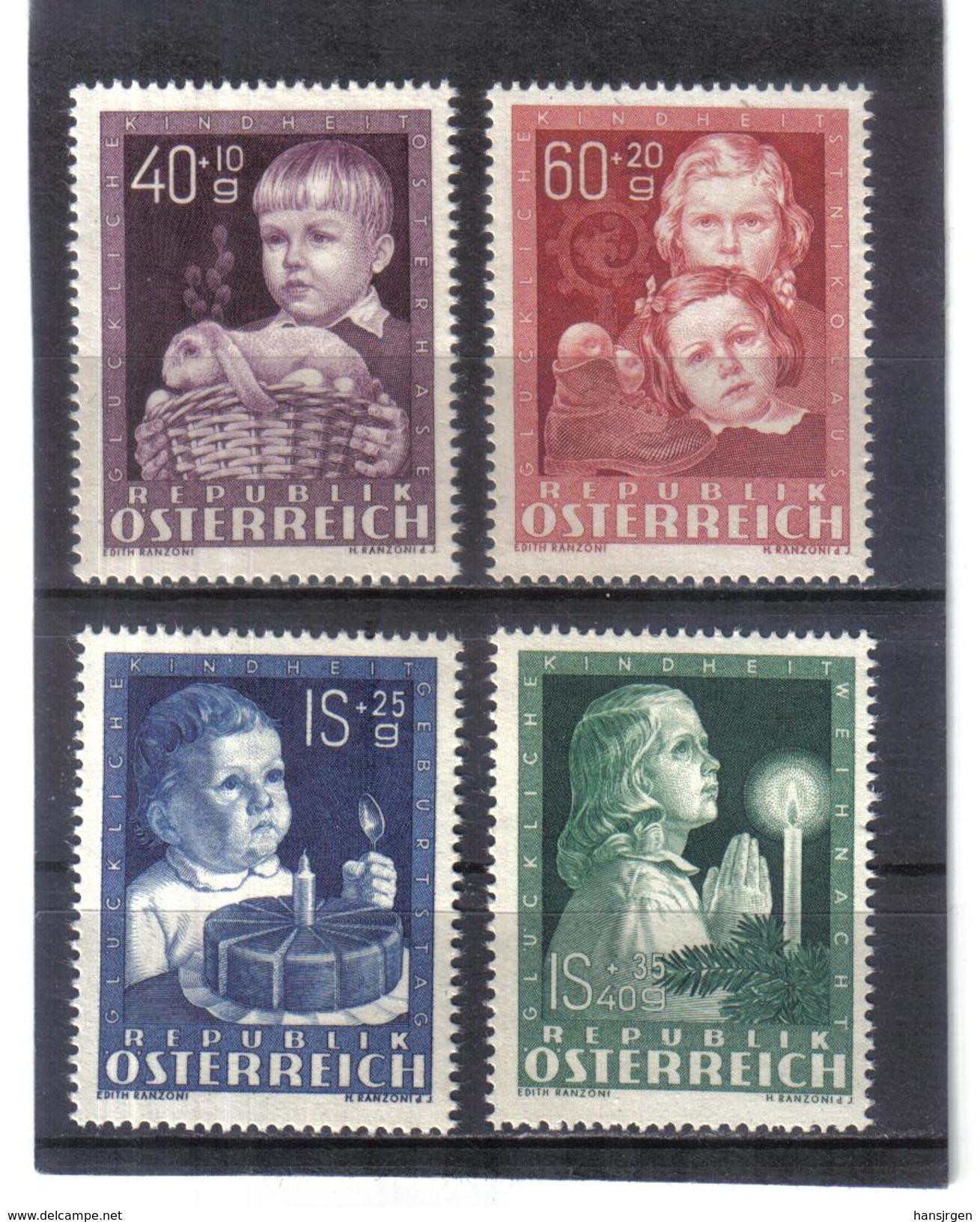 MAG388 ÖSTERREICH 1949 ANK  941/44 MICHL  929/32 ** Postfrisch Siehe ABBILDUNG - 1945-60 Ungebraucht