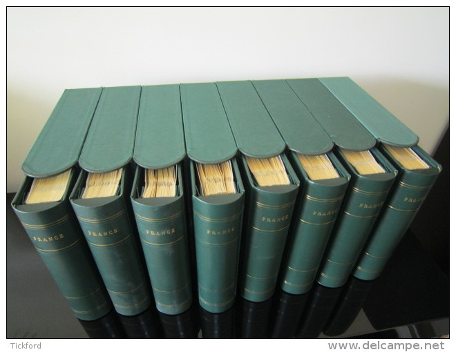 "ALBUMS CERES ""PRESIDENCE"" Avec Feuilles FRANCE 1849-2001 EN 8 VOLUMES  AVEC ETUIS ETAT NEUF - Albums & Binders"