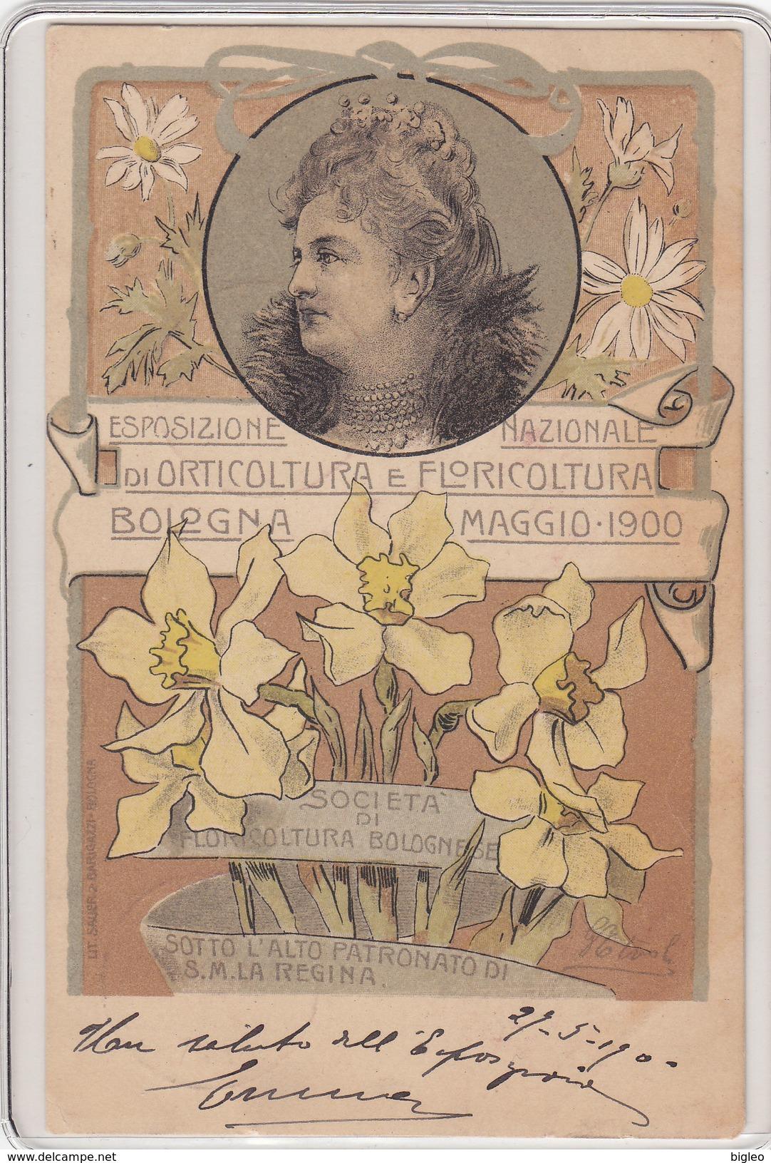 Bologna - Esposizione Di Orticultura E Fioricultura - 1900 - Cartolina Liberty - Timbro In Data      (A28-110125) - Bologna
