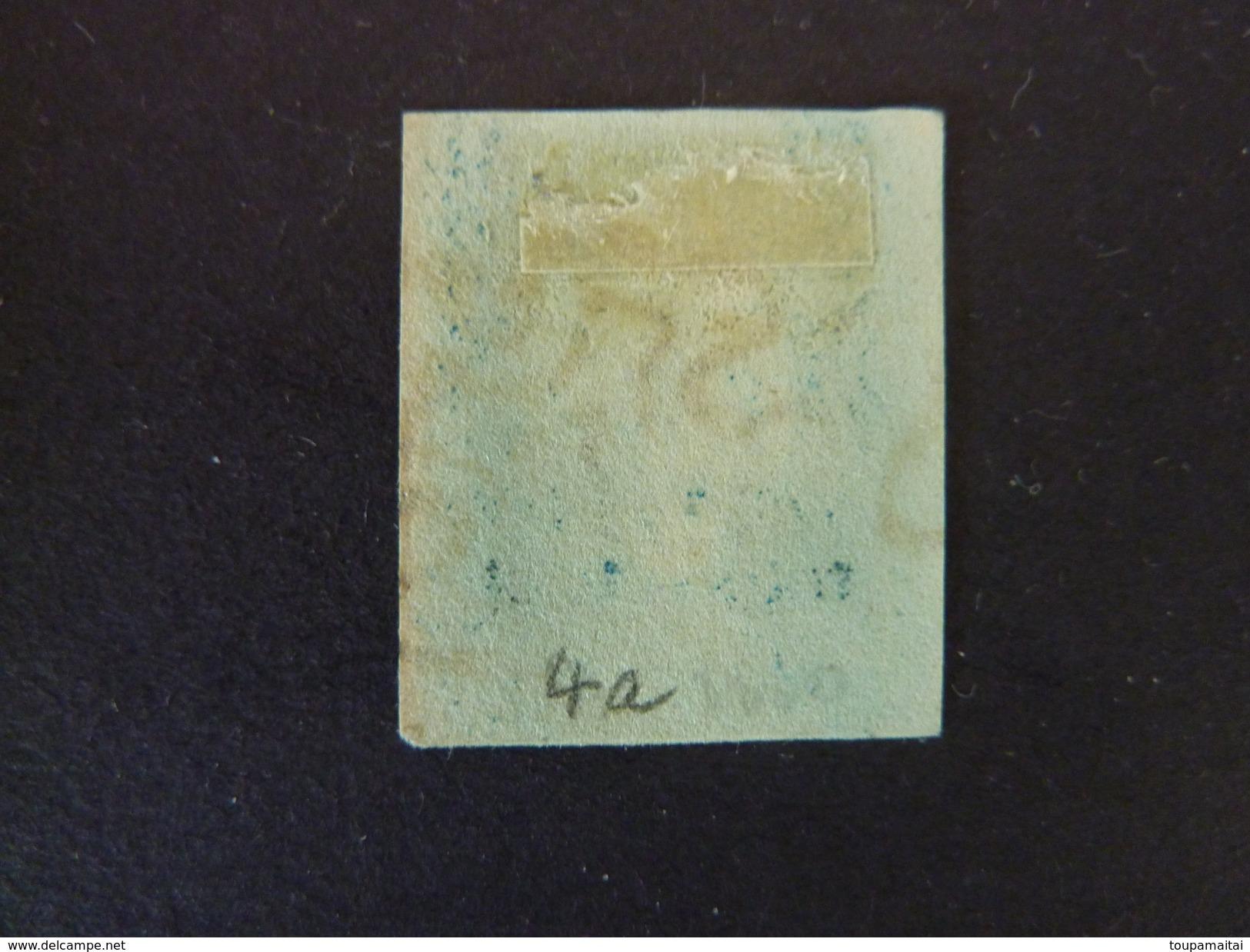 GRANDE BRETAGNE, Année 1841, YT N° 4a Bleu-foncé, Oblitéré Par Croix De Malte Noire  (cote 110 €) - 1840-1901 (Victoria)