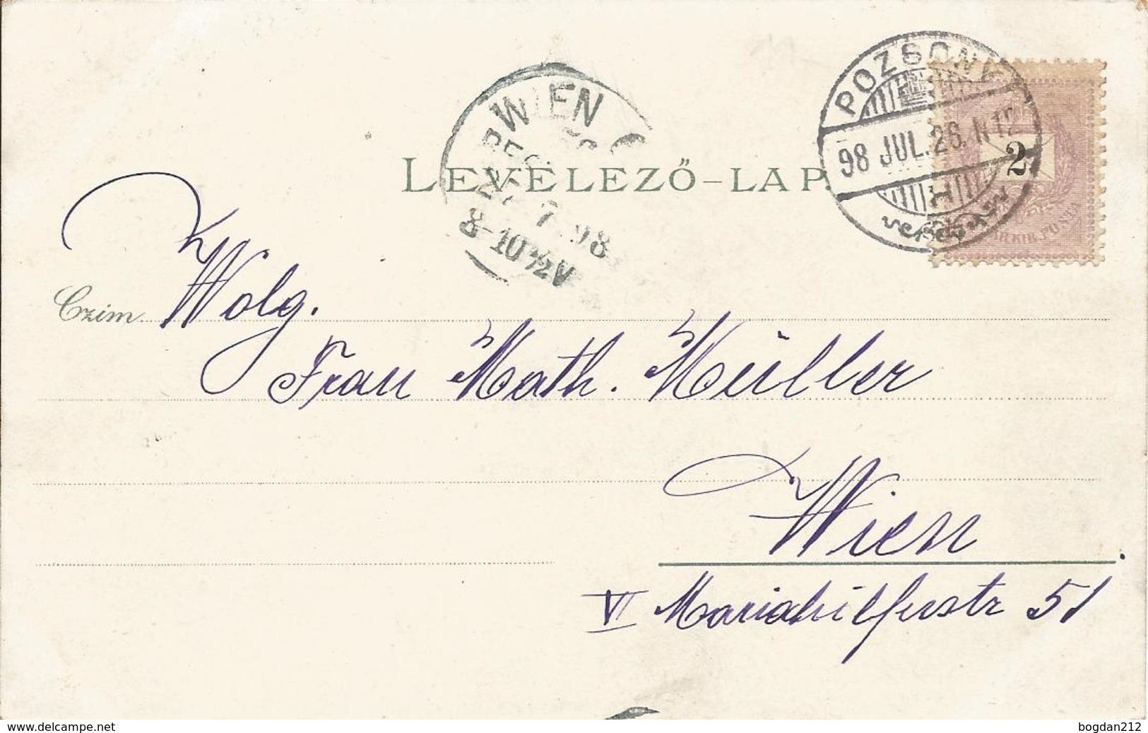 1898 - BRATISLAVA, Gute Zustand, 2 Scan - Slovakia
