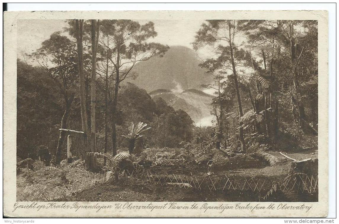 AK 0639  Gezicht Op Krater Papandajan V. D. Observatiepost - Nederländisch-Indie Um 1930 - Indonesien
