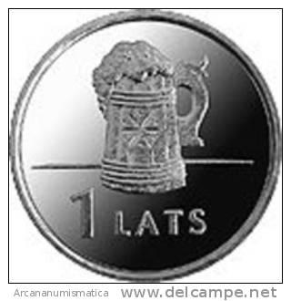 "LETONIA  /  LATVIA   1 Lat 2.011 2011  ""BEER MUG""   SC/UNC    T-DL-10.102 - Letonia"
