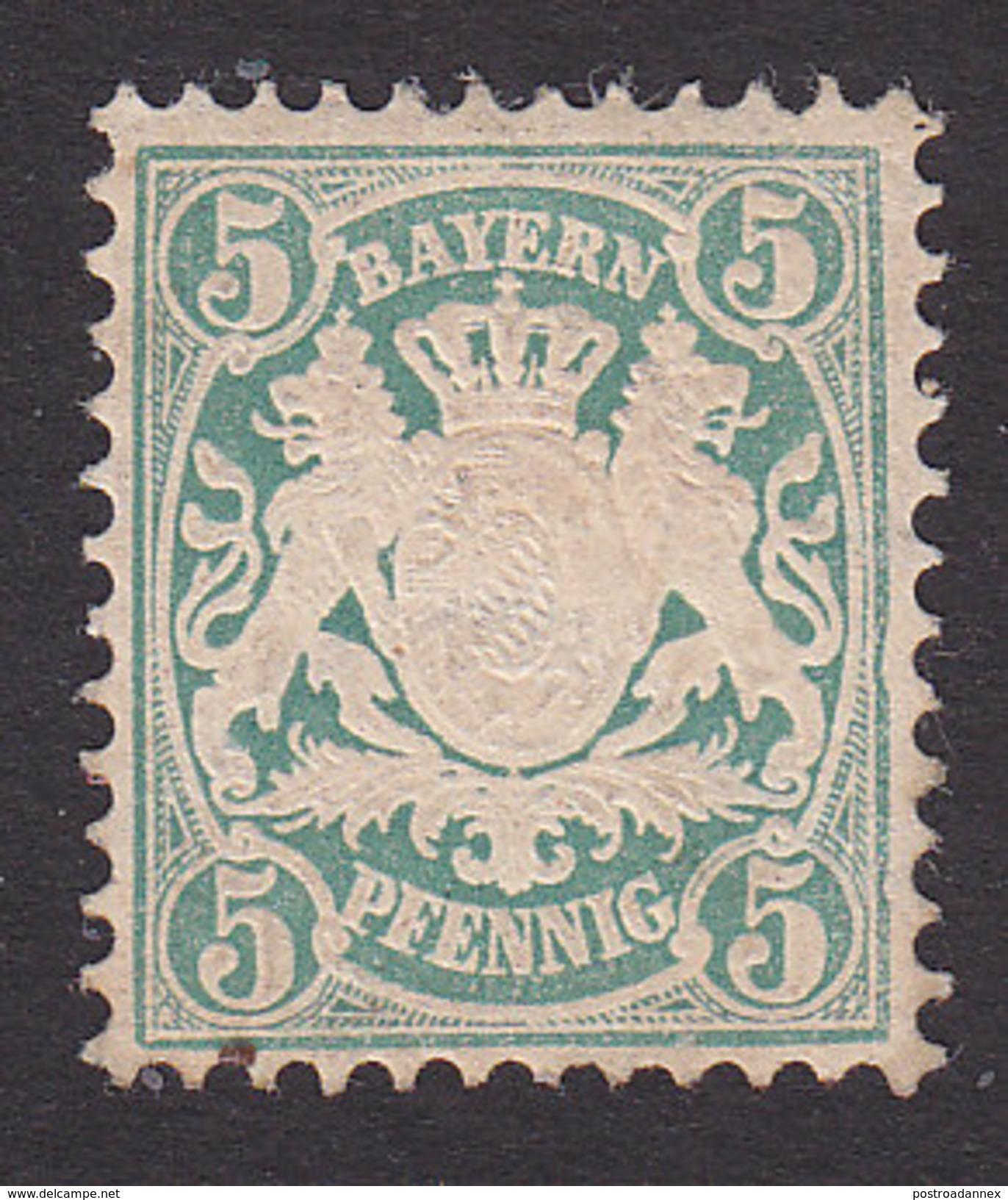 Bavaria, Scott #39, Mint Hinged, Coat Of Arms, Issued 1876 - Bavaria