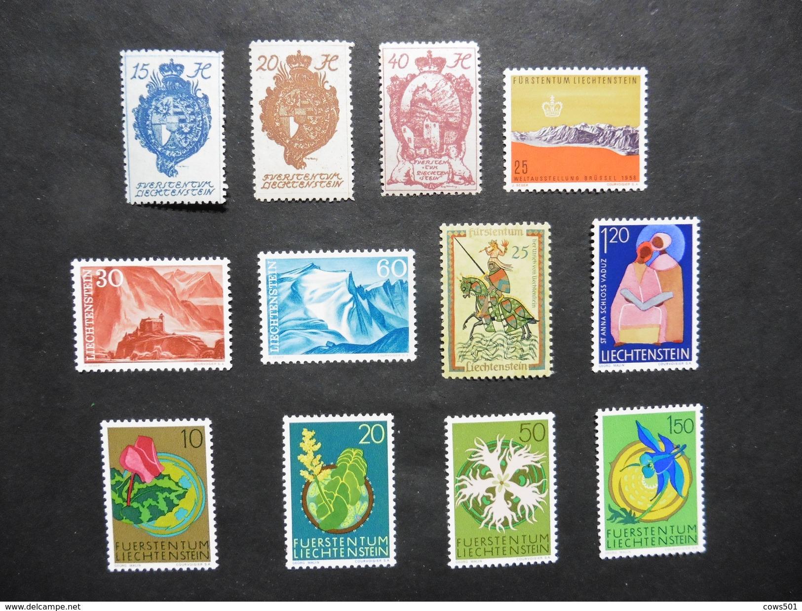 Liechtenstein  : 12 Timbres Neufs - Collections