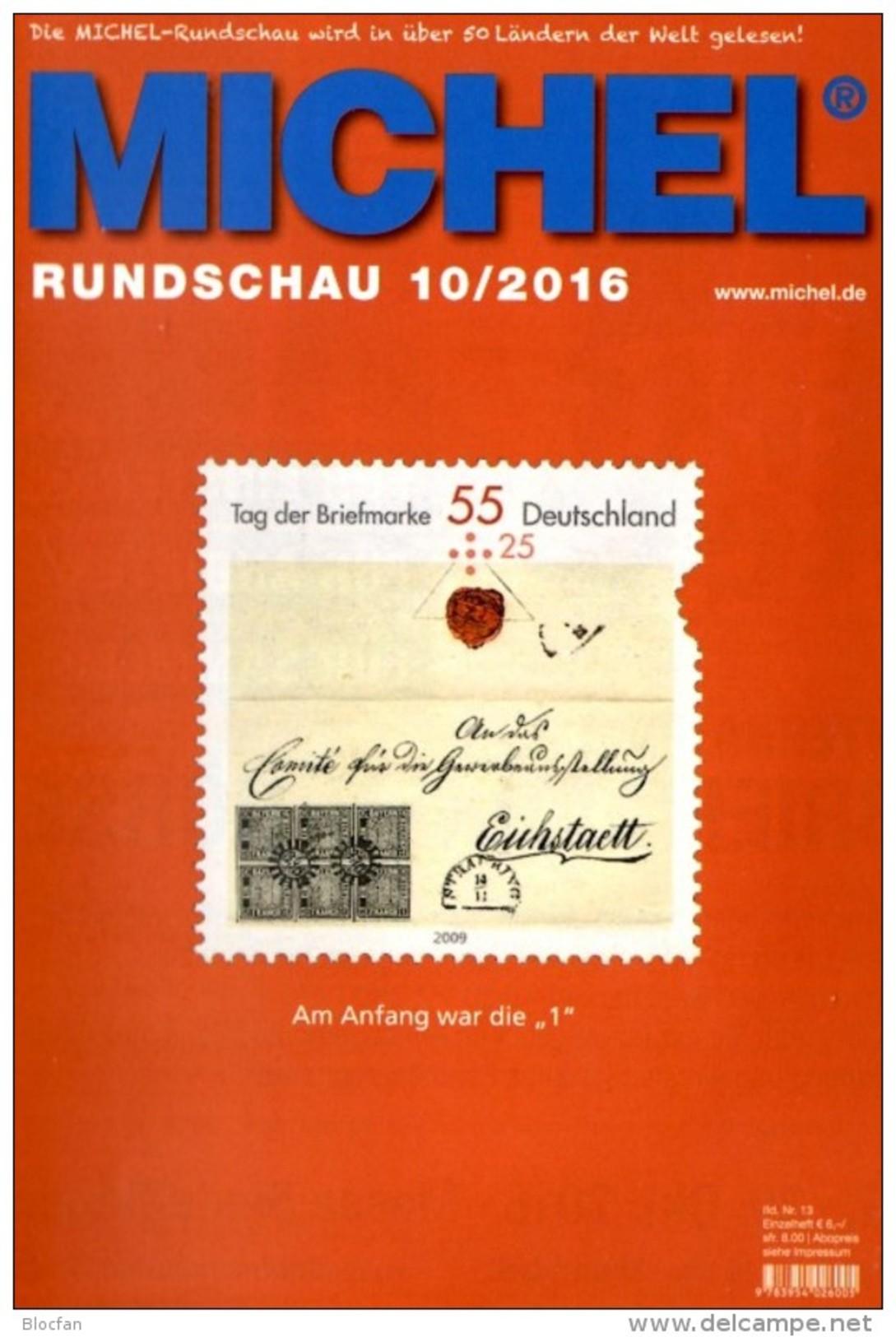 Briefmarken Rundschau MICHEL 10/2016 Neu 6€ New Stamp Of The World Catalogue/magacine Of Germany ISBN 9783954026005 - Libros, Revistas, Cómics