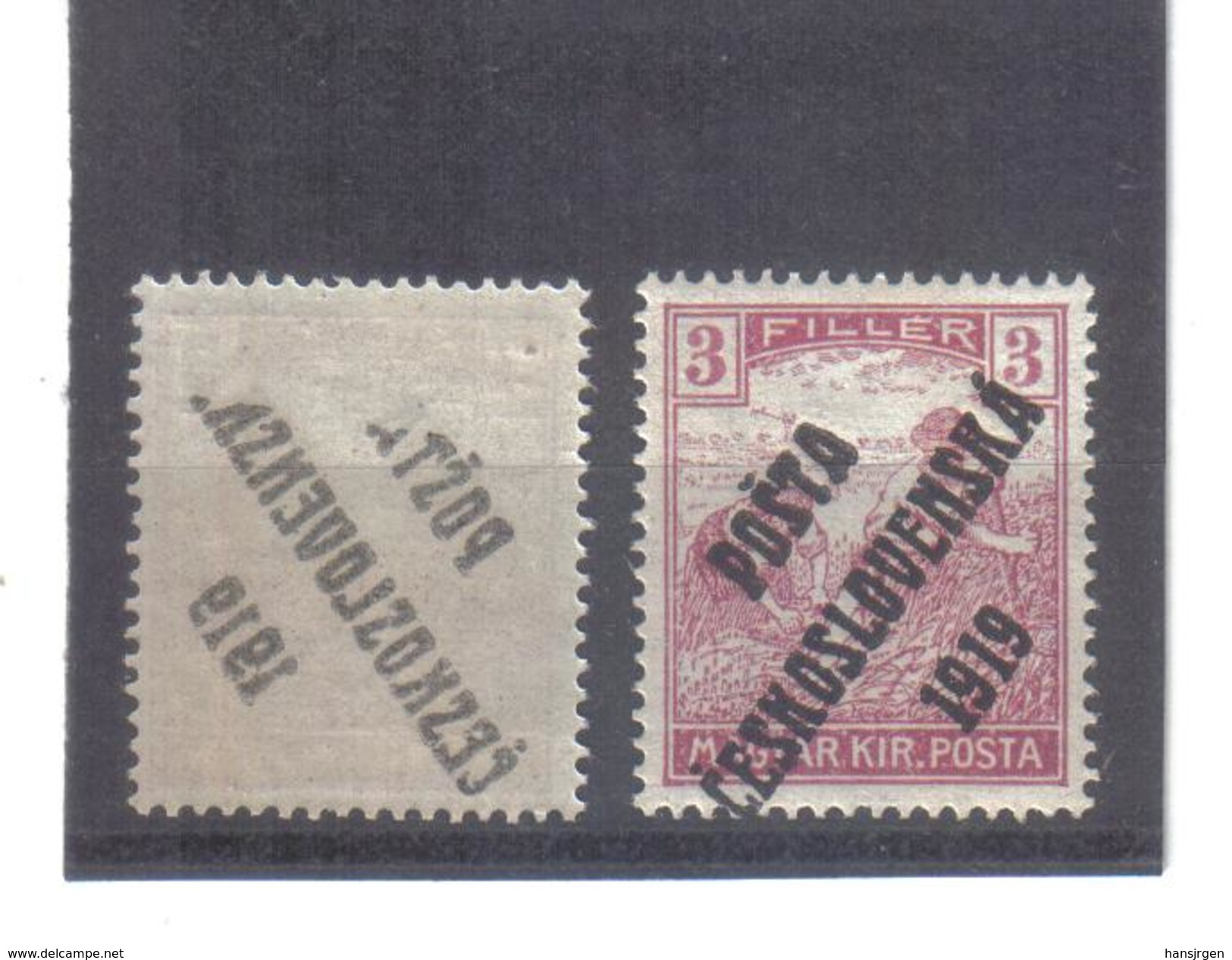 EIL358 TSCHECHOSLOWAKEI CSSR 1919 Michl 121 ABKLATSCH  **  Siehe ABBILDUNG - Tschechoslowakei/CSSR